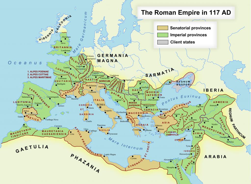 نقشه امپراتوری روم
