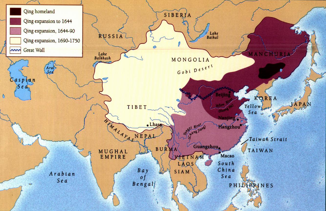 نقشه امپراتوری مینگ