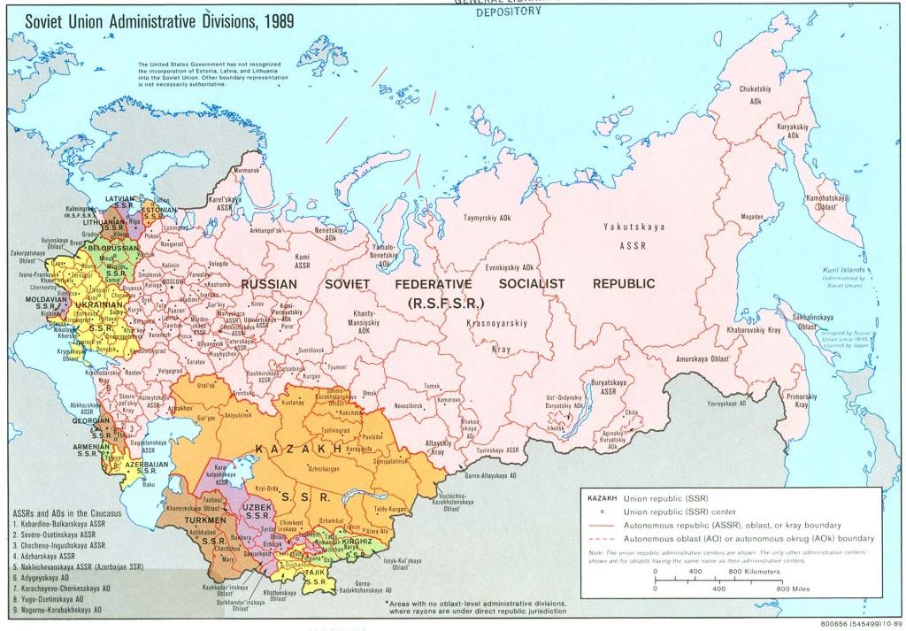 نقشه اتحاد جماهیر شوروی